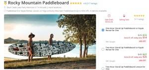 Groupon Select Paddleboard deal