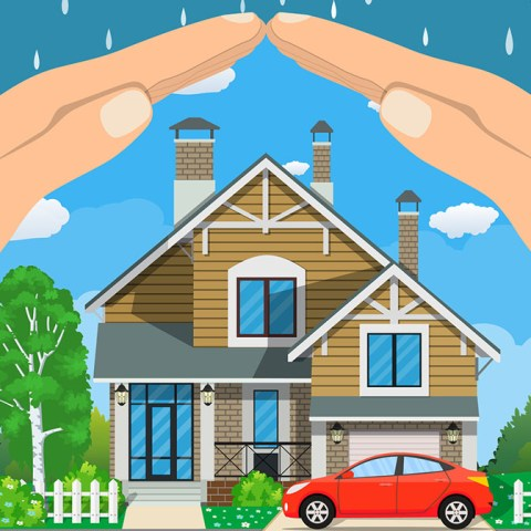 car, house and life insurance