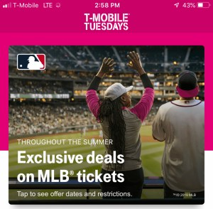 Can you really save money with T-Mobile Tuesdays? Deals on MLB tickets