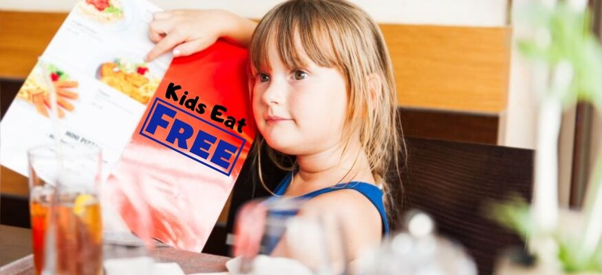 Restaurants where kids eat free or nearly free