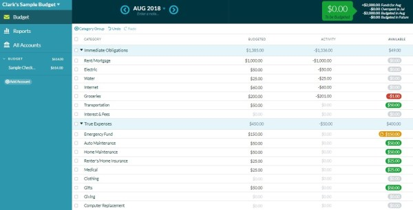 YNAB (You Need a Budget) is a paid program that helps you track your spending by following four rules