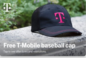 T-Mobile Tuesdays free baseball cap
