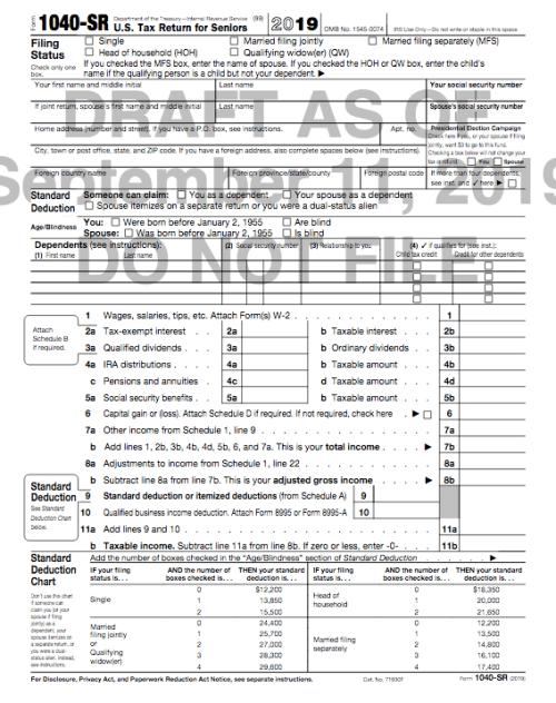 Tax Form 1040-SR