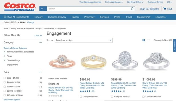 Costco engagement rings