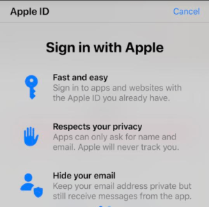 iOS new privacy feature hides your email