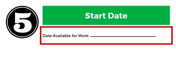 How to decide the work start date on a job application