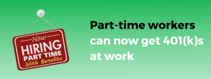 401(k) access for part-time workers