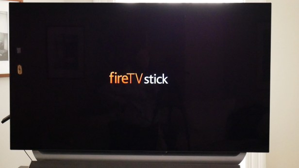 Welcome screen on the Amazon Fire TV Stick.