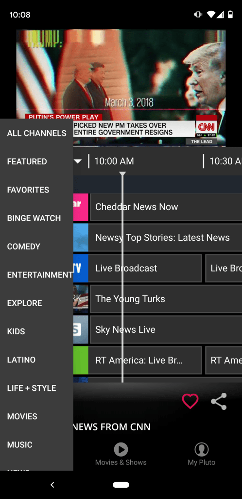 You are able to sort the channel guide by content category.