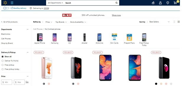 Walmart Family Mobile Phone Selection
