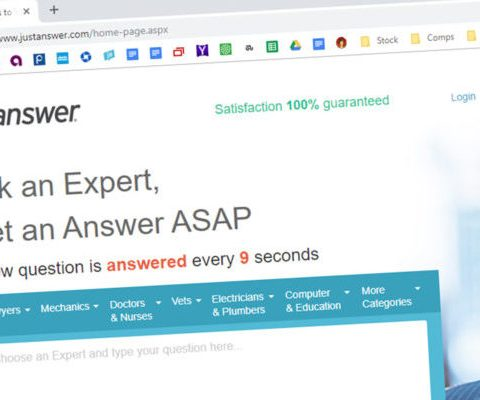 JustAnswer Website
