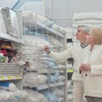 Seniors shopping at a retail store