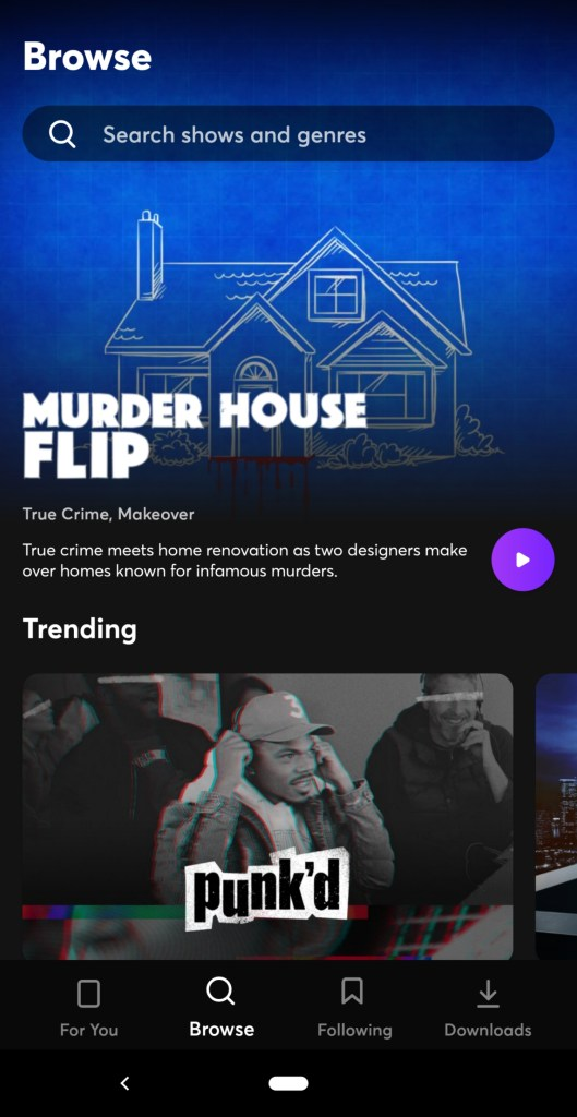 Murder House Flip is one of the original shows available on Quibi.