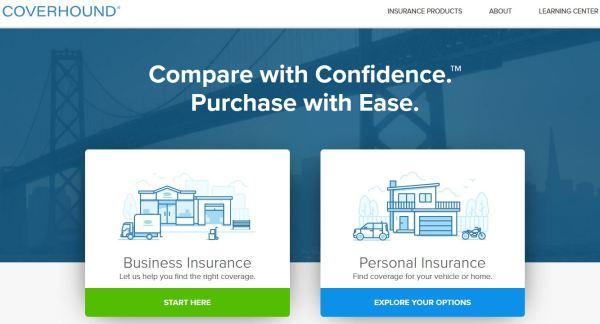Coverhound homepage