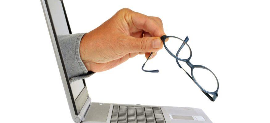 Ordering glasses online