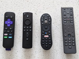 In a side-by-side comparison, the Xfinity Flex remote is much larger than those offered streaming TV competitors.