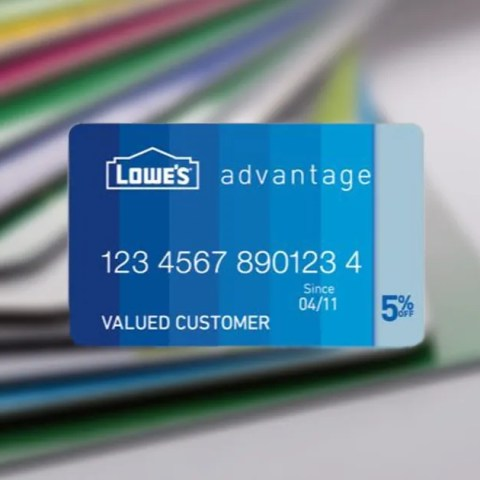 The Lowe's Advantage Card is an in-store credit card for purchases at the home improvement store.
