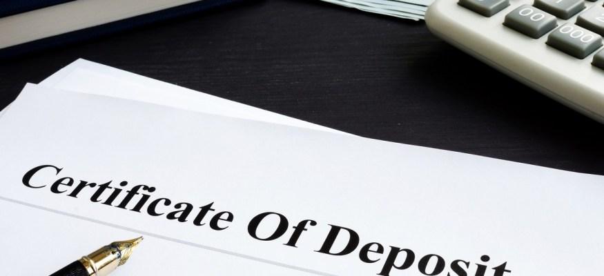 Certificate of Deposit CD