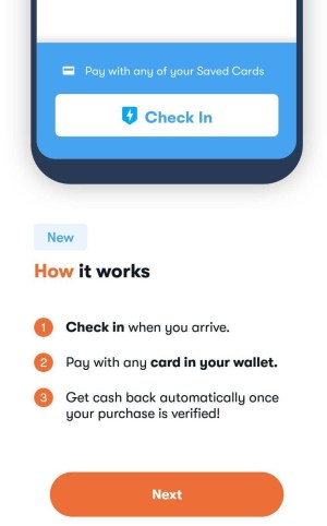How to check in rather than scan your receipt on the cash back app GetUpside.