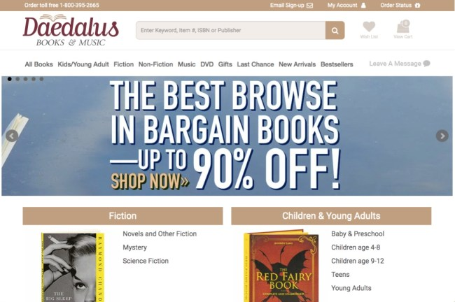 Daedalus Books online bookstore