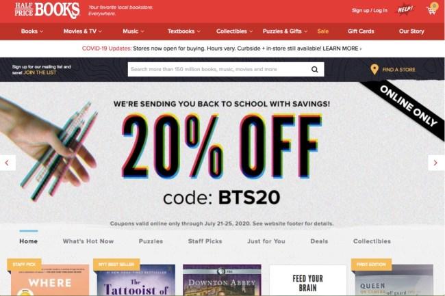 Half Price Books cheap books online