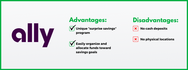 """Ally Bank's unique """"surprise savings"""" program is one of the benefits of its high-yield online savings account."""