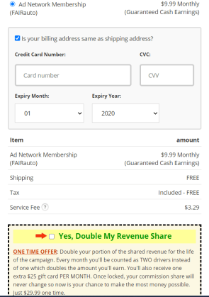 During my Stickr.co review, I took this screenshot showing the option for double revenue.