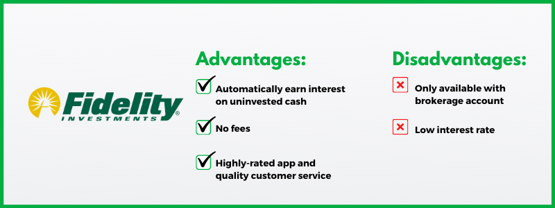 Fidelity Investments' cash management account is a great banking option for those with investible assets.