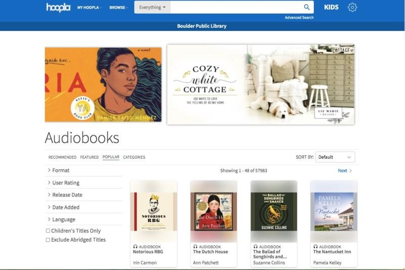HooplaDigital audiobook library