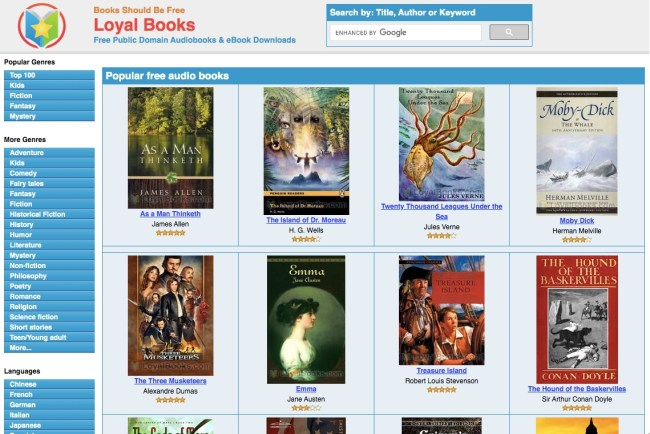 Loyal Books website