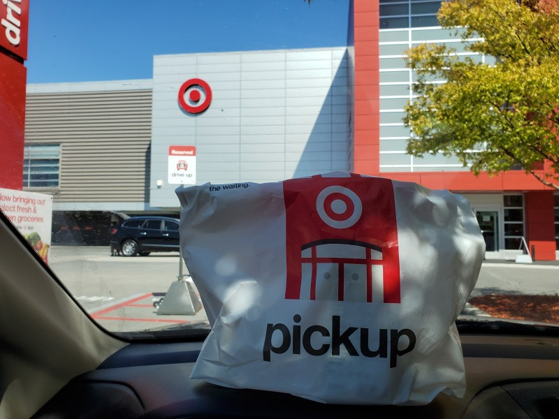Target Drive Up designated parking space and order
