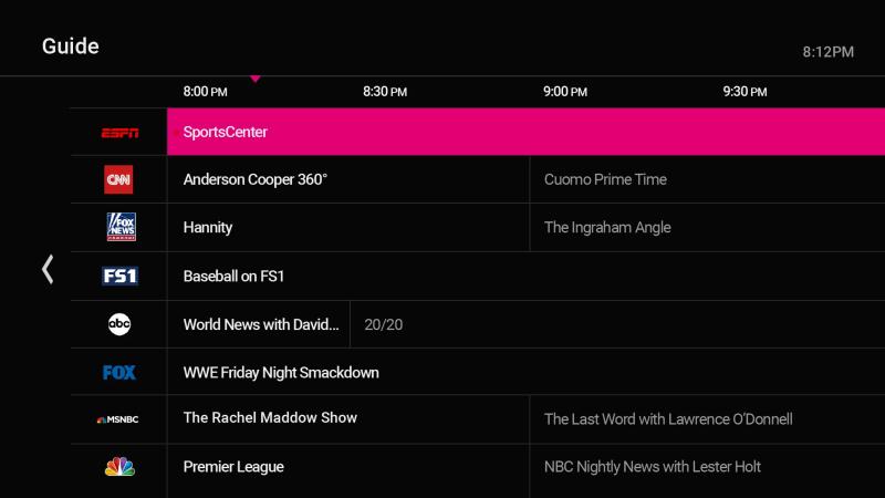 TVision TV Guide