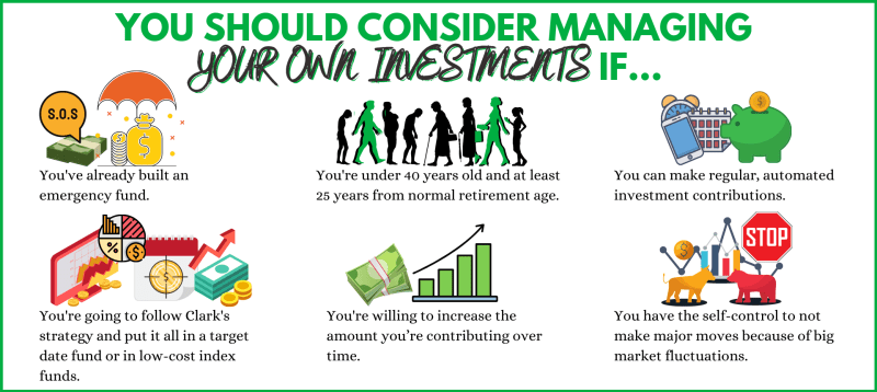 Here are some reasons why you may consider managing your own investment portfolio.