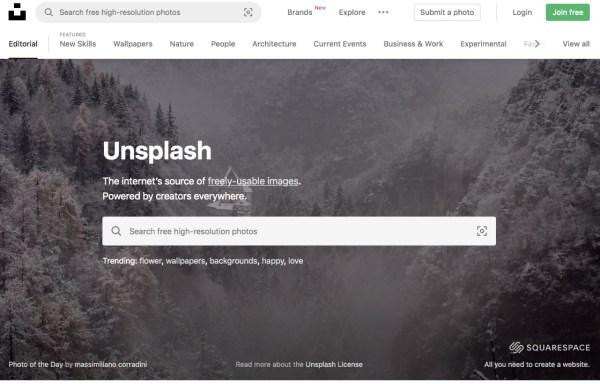 Unsplash royalty-free images