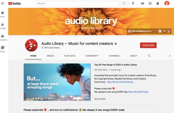 YouTube royalty-free music