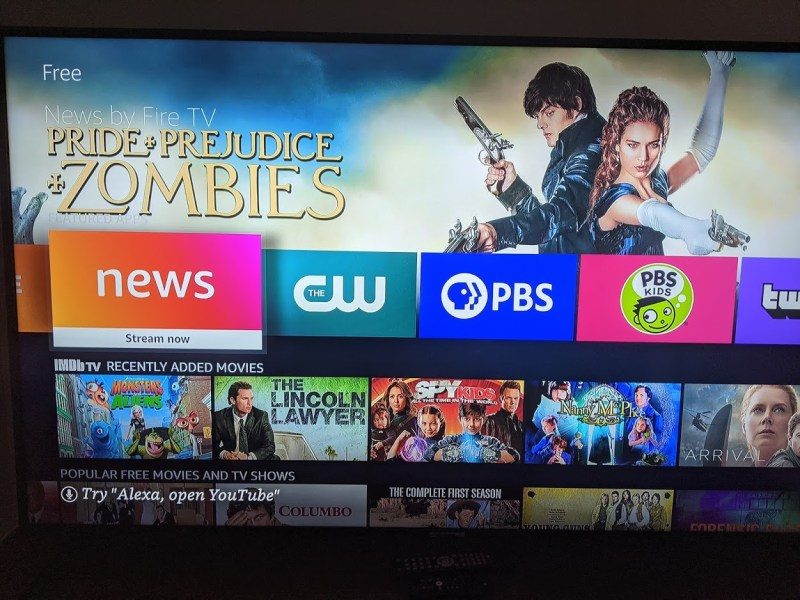 The news app is free on Amazon Fire TV devices.