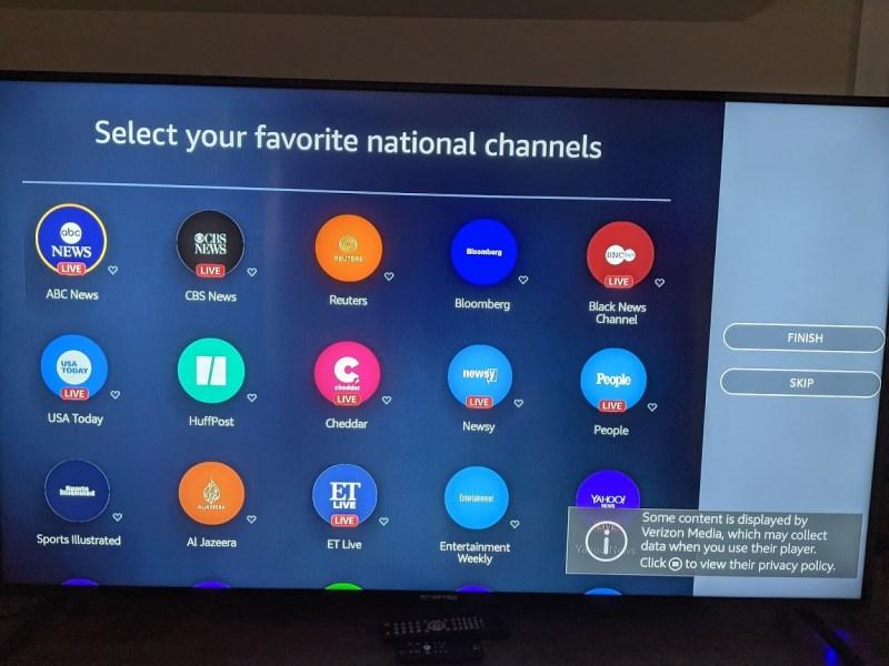 The Amazon news app gives you national news options.