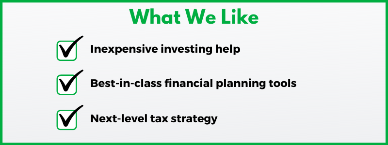 Clark.com's Wealthfront review recognizes how the company provides cheap investing and strong free financial planning tools.