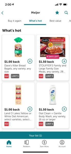 """""""What's Hot"""" offers at Mejier with cash back available via Ibotta"""