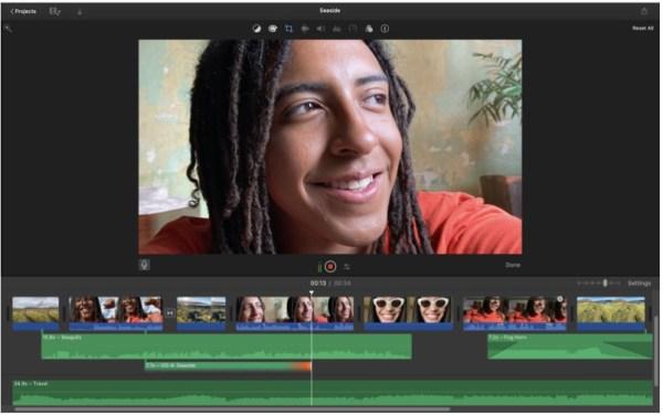 iMovie free video editing software