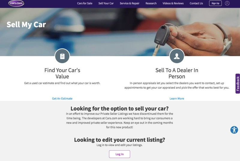 Selling your car on Cars.com
