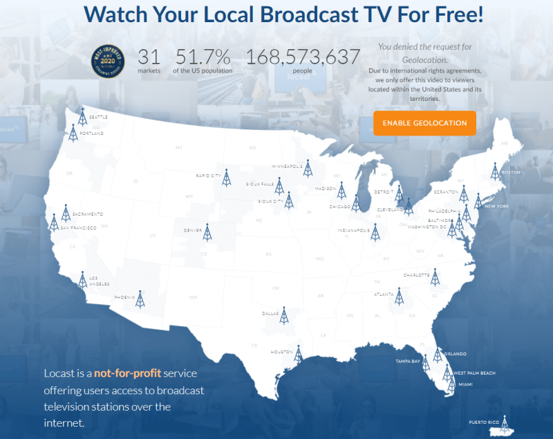 Locast streams local channels for free
