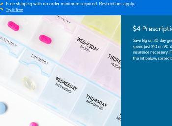 $4 prescriptions at Walmart