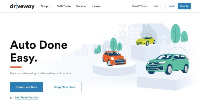 Driveway website homepage