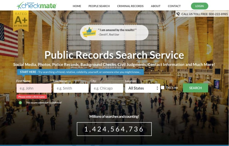 Instant Checkmate background check service