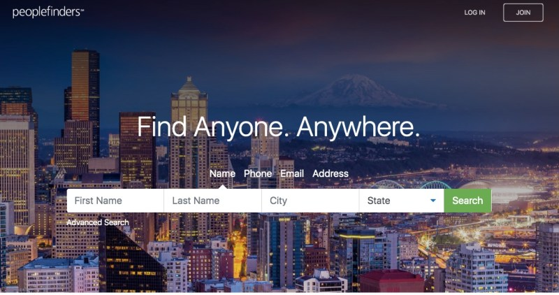 PeopleFinders background check service