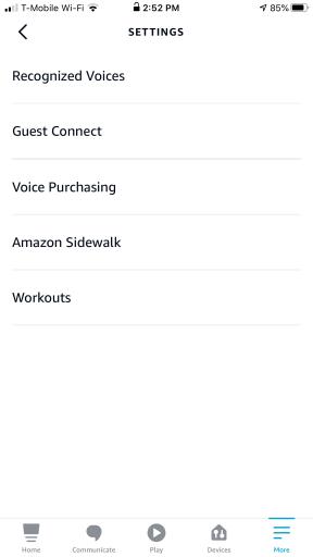 Disable Amazon Sidewalk inside Alexa app