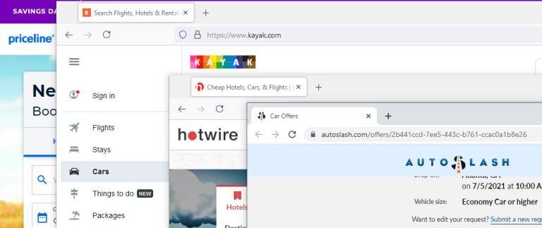 Car rental sites online search