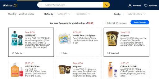 Walmart coupon discount