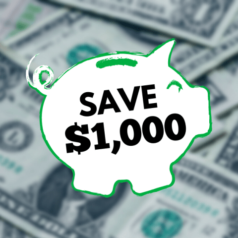How To Save $1,000 in 15 Weeks
